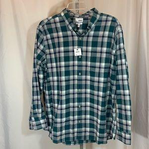 NWT XXL Sonoma button up plaid long sleeve shirt